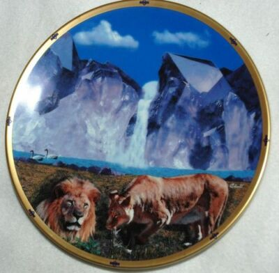 LION LENOX Falls of PARADISE COLLECTOR PLATE, T7 yy
