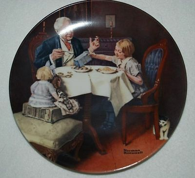 THE GOURMET, KNOWLES Collector PLATE by N. Rockwell #1 yy