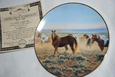 YOUNGBLOOD KNOWLES Collector PLATE by Nancy Glazier HORSE P52 yy