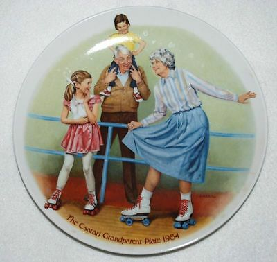 Skating QUEEN, KNOWLES Collector PLATE Grandparents P42 yy