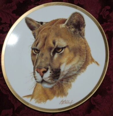 PUMA COLLECTABLE PLATE, Wild Animals LENOX, T10 yy