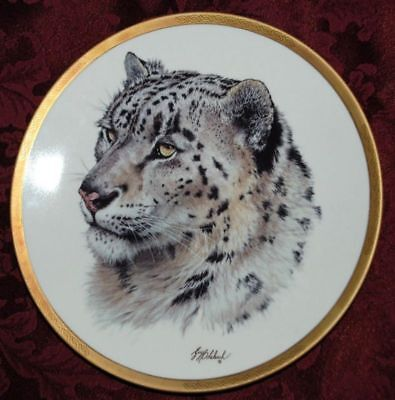 SNOW LEOPARD COLLECTIBLE PLATE, Wild Animals LENOX, T14 yy