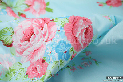 """Pink Roses Floral 100/% cotton fabric sold by meter 63/""""width 1805017"""