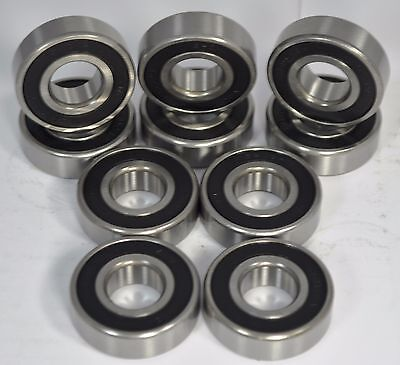 6301-2RS C3 Premium Rubber Sealed Ball Bearing 6301RS 12x37x12 4 QTY
