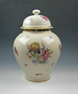 Thomas China DRESDEN FLORAL SPRAY Large Ginger Jar with Lid Excellent