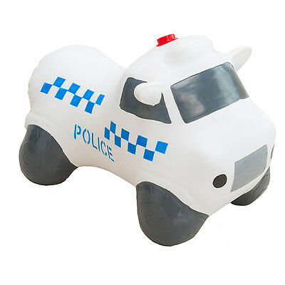 Happy Hopperz White Police Car Childrens Ride-On Inflatable Bouncer Space Hopper
