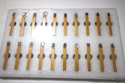 "1/4"" Carbide Tip Tool Bits 20 Pc Set Lathe Tool & Milling Cutting Tools"