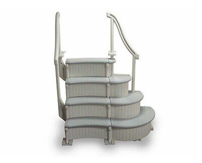 Swimming Pool Steps For Above Ground Pool Curved Entry Stairs Deck Mount