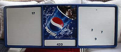 """Large Pepsi Menu Board 51"""" X 20"""" With Numbers & Letters"""
