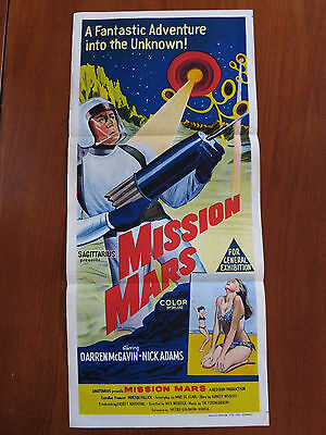 MISSION MARS Original Australian Daybill Movie Poster Sci-Fi Cult
