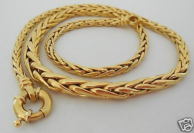 collier maille palmier , Or 18ct , 750°