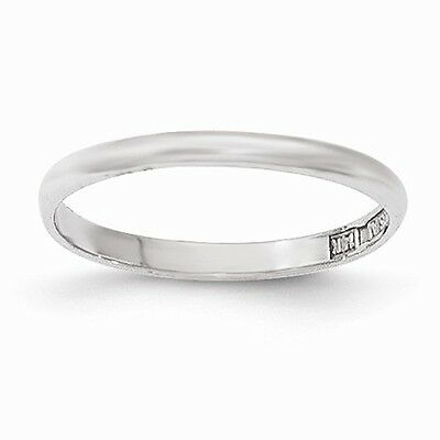 14K White Gold Polished Child's Ring