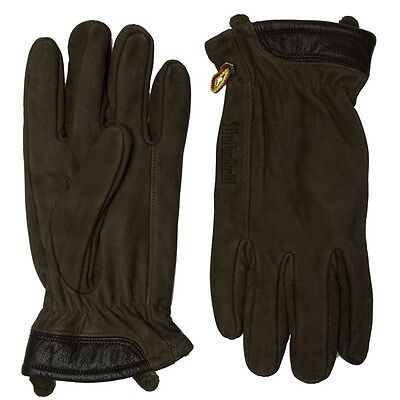 New Mens Timberland Green Boot Leather Gloves