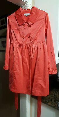 Liz Lange Maternity XL Extra Large Coral Coat Jacket Free Shipping