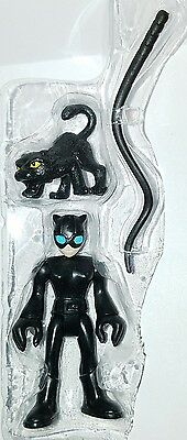 """DC Super Friends CATWOMAN 3"""" Figure Cat Whip Imaginext Fisher-Price Hero Squad"""