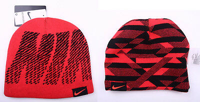 YOUTH BOY S NIKE REVERSIBLE Knit Beanie Hat Winter hat SIZE 8 20 ... 8ff3b1d7025