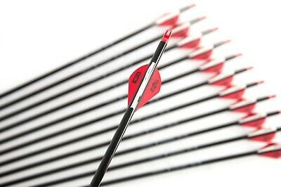 "12 X 31"" Carbon Black Arrows For Compound Or Recurve Bow Target Archery"