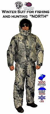"Winter Suit for fishing and hunting ""NORTH""/ use temperature up to – 35 degrees"