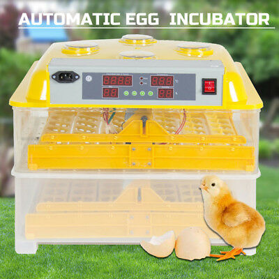 96 Egg Incubator Fully Automatic Digital LED Turning Chicken Duck Eggs Poultry
