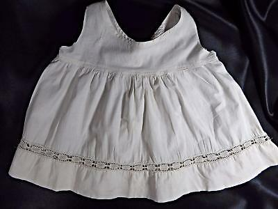 Antique BABY DRESS~WHITE Infant GOWN BAPTISM~Christening EDWARDIAN VINTAGE BB123