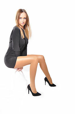 Womens beautiful opaque glossy tights S M L XL XXL with gusset 40 Denier