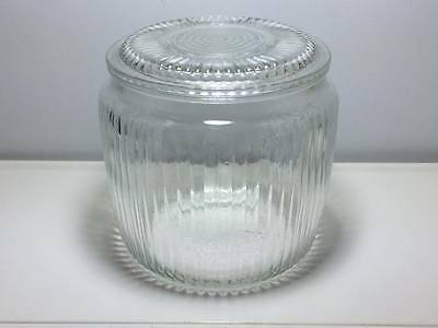 Vintage  Anchor Hocking depression glass  ribbed cookie jar