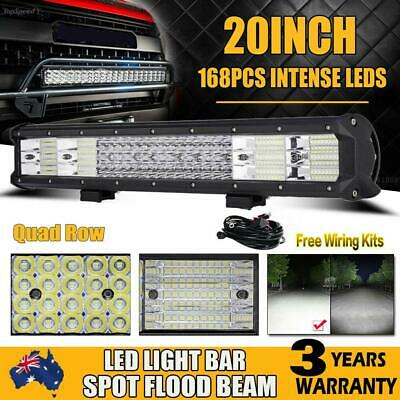 20inch LED Light Bar Quad Row Philips 2016W Spot Flood 4x4 Work Driving 12V 24V