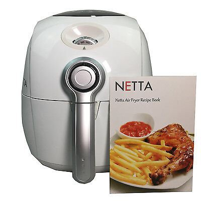 Netta Air Fryer 2.5L Oil Free Healthy Low Fat Multicooker Cook Fry White