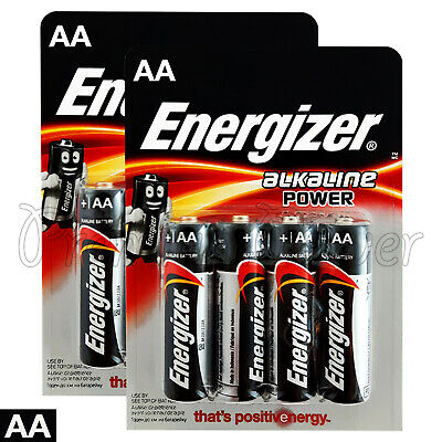 8 x Energizer AA Alkaline Power Max batteries 1.5V LR6 MN1500 MIGNON EXP:2025
