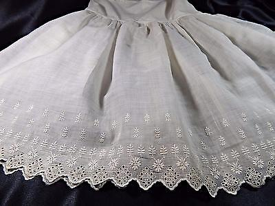 Antique BABY DRESS~Embroidered Batiste Christening GOWN~EDWARDIAN VINTAGE BB118