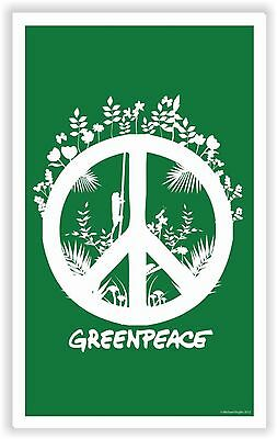 Greenpeace Peace Sticker Autocollant Moto Bike Laptop Tablet Bumper Pegatina