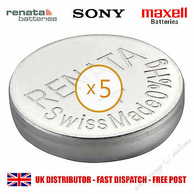5 x RENATA SONY MAXWELL BATTERIES Silver Oxide GENUINE WATCH Cell Battery 3xx CR