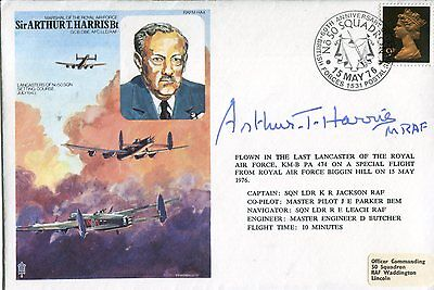 WW2 RAF Bomber Command leader Sir Arthur Harris signed cover