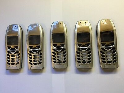 5 X REPLACEMENT COVER FOR NOKIA 6310 6310i NEW GOLD SILVER HOUSING