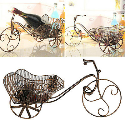 Tricycle Home Decor Metal Wine Racks Tabletop Iron Wine Champagne Bottle Holders