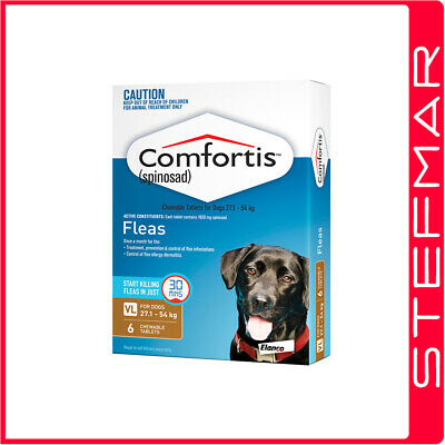 Comfortis for Dogs Flea Treament 6 Pack Brown 27.1-54Kg