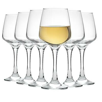 Tallo' Contemporary White Wine Drinking Glasses - Gift Box Of 6 - 295ml