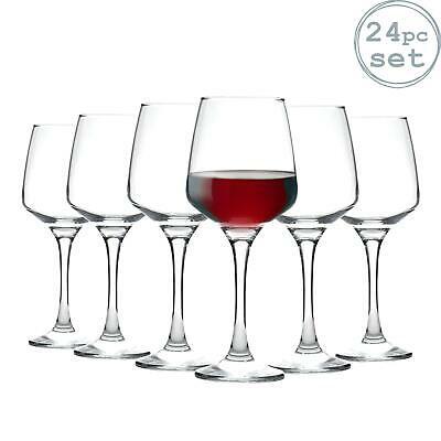 Tallo Red Wine Glasses Contemporary Drinking Glass Set, 400ml - Box of 24