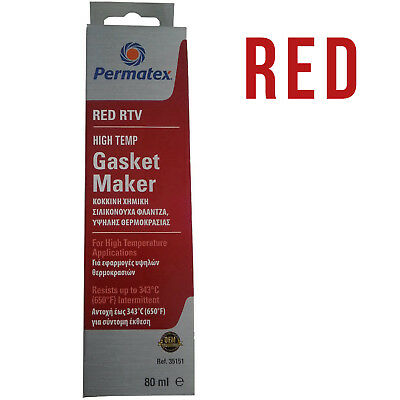 Permatex High-Temp Red RTV Silicone Gasket Maker OEM Specifed -54 to 343 81160