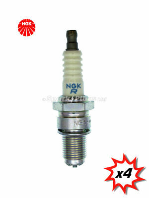 4x NGK BR10ET Spark Plugs. Set of 4 plugs, NGK stock code 7480