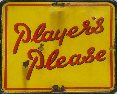 Players Please VINTAGE ADVERTISING ENAMEL METAL TIN SIGN WALL PLAQUE