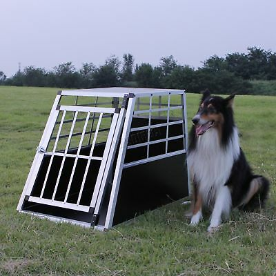 FoxHunter Aluminium Dog Pet Cage Kennel Large Transport Crate Carrier BOX 1 Door