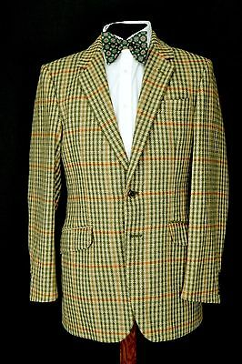 "Vintage West of England Cloth 2 Button Tweed Jacket size 36"" Regular Saxony"
