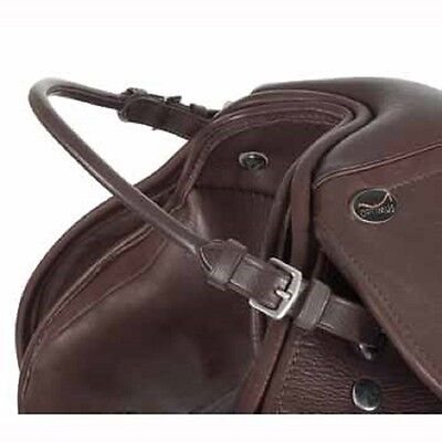 Rolled Leather Saddle Runner/Balance Strap/Training Handle Black or Brown