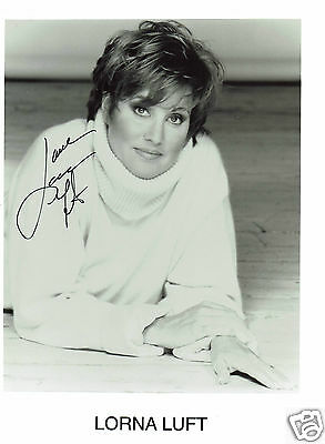 Lorna Luft American Actress Hand signed Photograph 10 x 8
