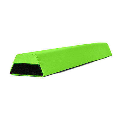 Lime Foam Gymnastics Balance Beam 1.2M Water Resistant Outdoor Material Velcro