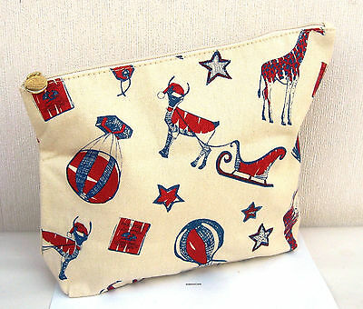 Origins Fawn & Red Reindeer Patterned Make Up /Toiletries Bag