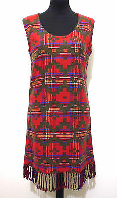 CULT VINTAGE '80 Abito Vestito Donna Lana Optical Wool Woman Dress Sz.S - 42