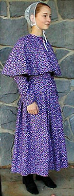 Old German Baptist Brethren Style Cape Dress - Ladies - MADE TO ORDER - NEW