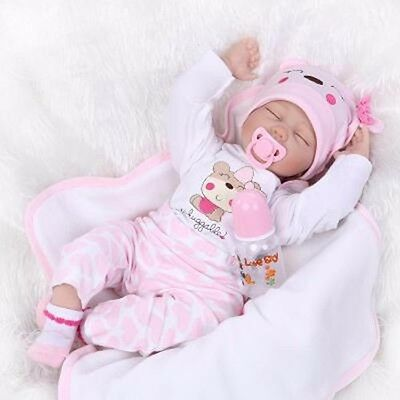 "22""Handmade Newborn Reborn Doll Baby Girl Clothes,  NOT Included Doll"